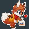 Pixel fox by Silverfox5213
