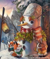Magical Snowman (Normal) by Silverfox5213