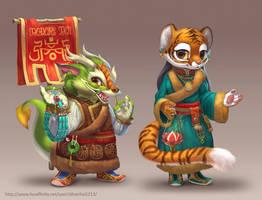 Dragon Tiger Standee by Silverfox5213