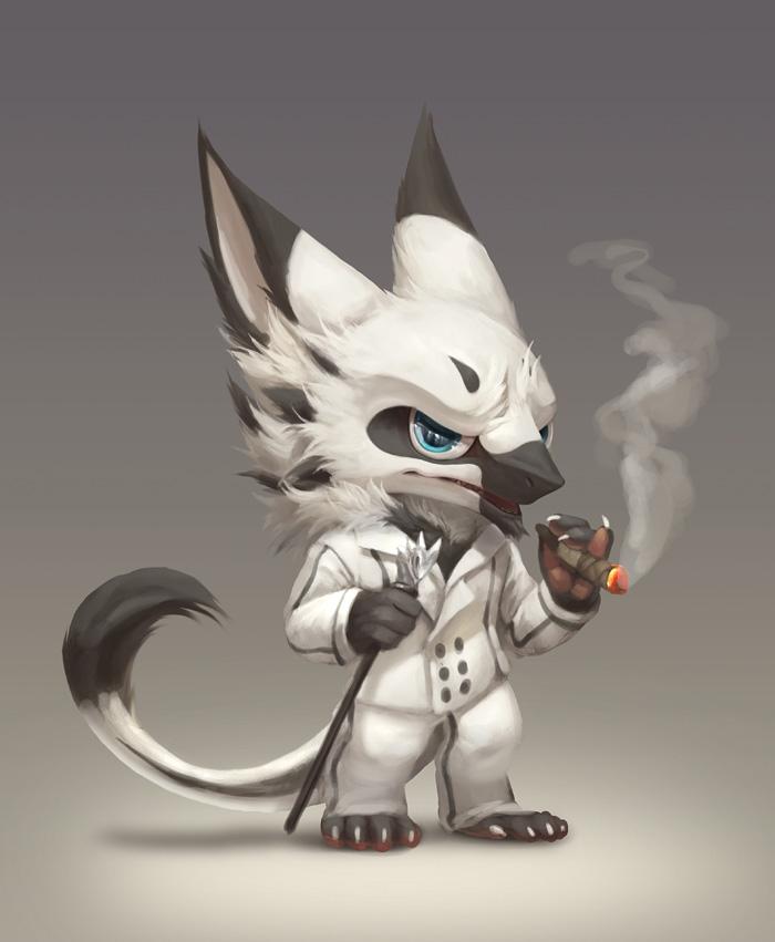 Chibi Sergal by Silverfox5213