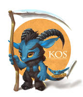 Kos the Chimera Goat by Silverfox5213