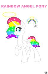 Rainbow Angel Pony 5 points by QueenBatgirl