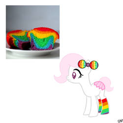 Rainbow Cupcake AUCTION by QueenBatgirl