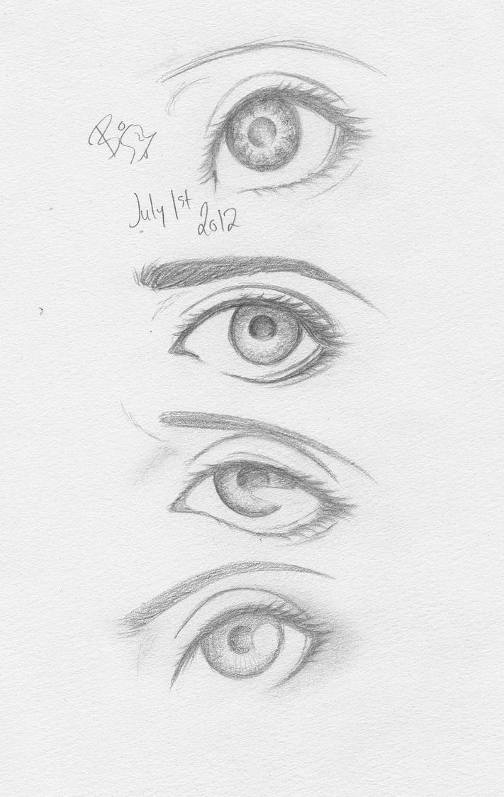 Eye Sketches by BinnyTheEarthHero