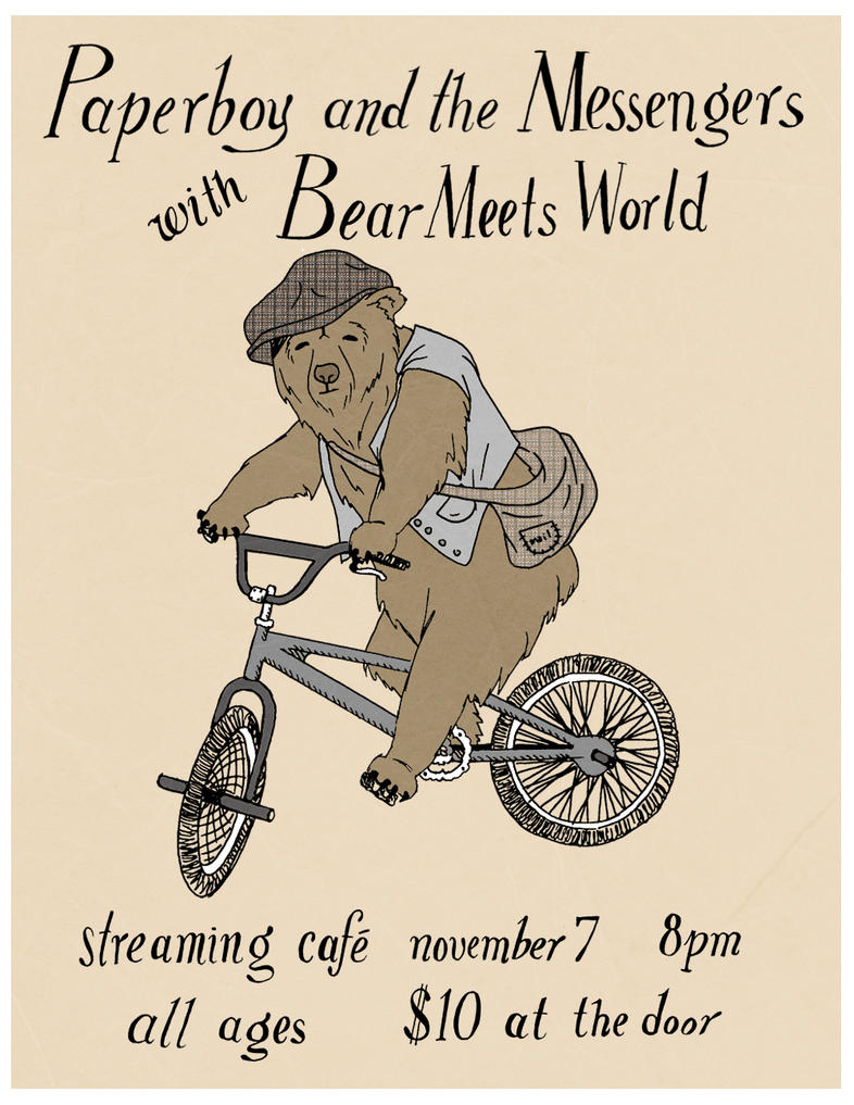 Paperboy and the Messengers with Bear Meets World by BinnyTheEarthHero