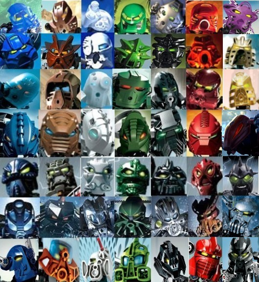 Bionicle all toa 7e by Toa-fullmetal