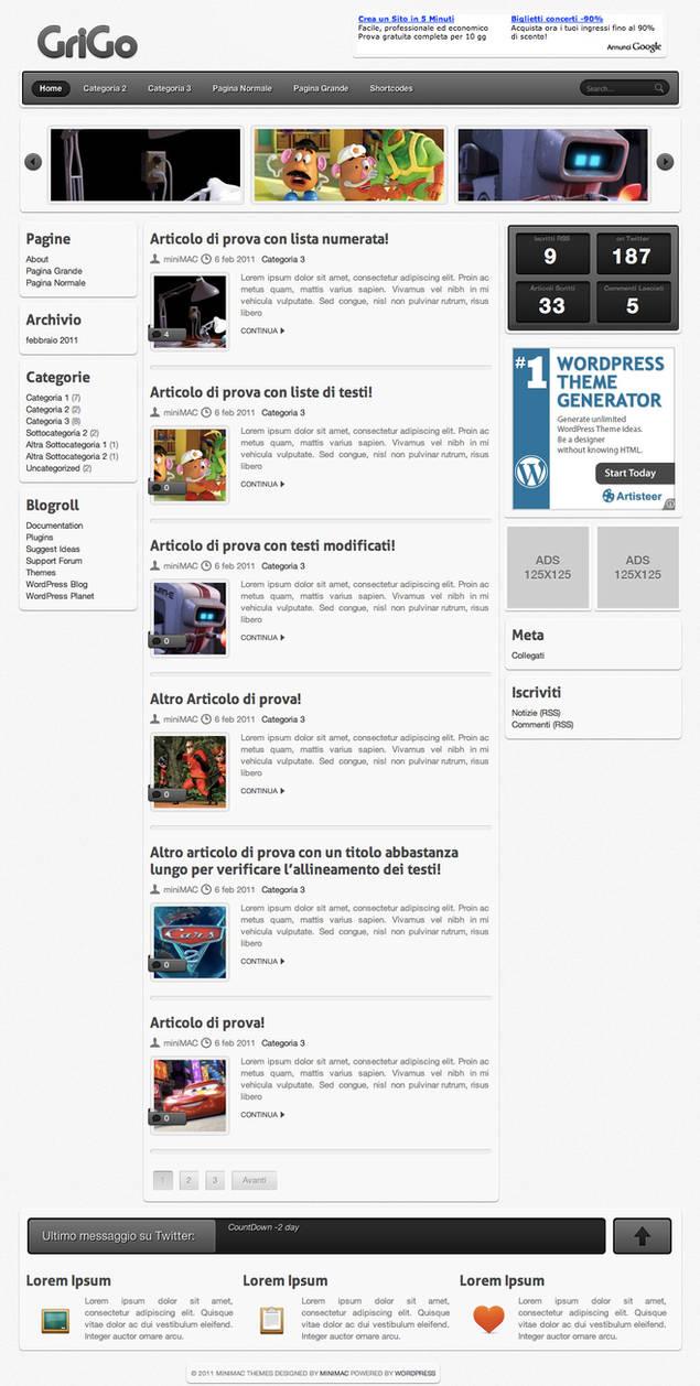 Grigo Wordpress Theme