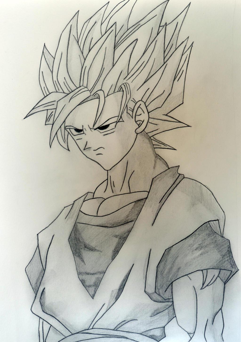Goku Super Saiyan 2 Drawing By Mmkurt On Deviantart