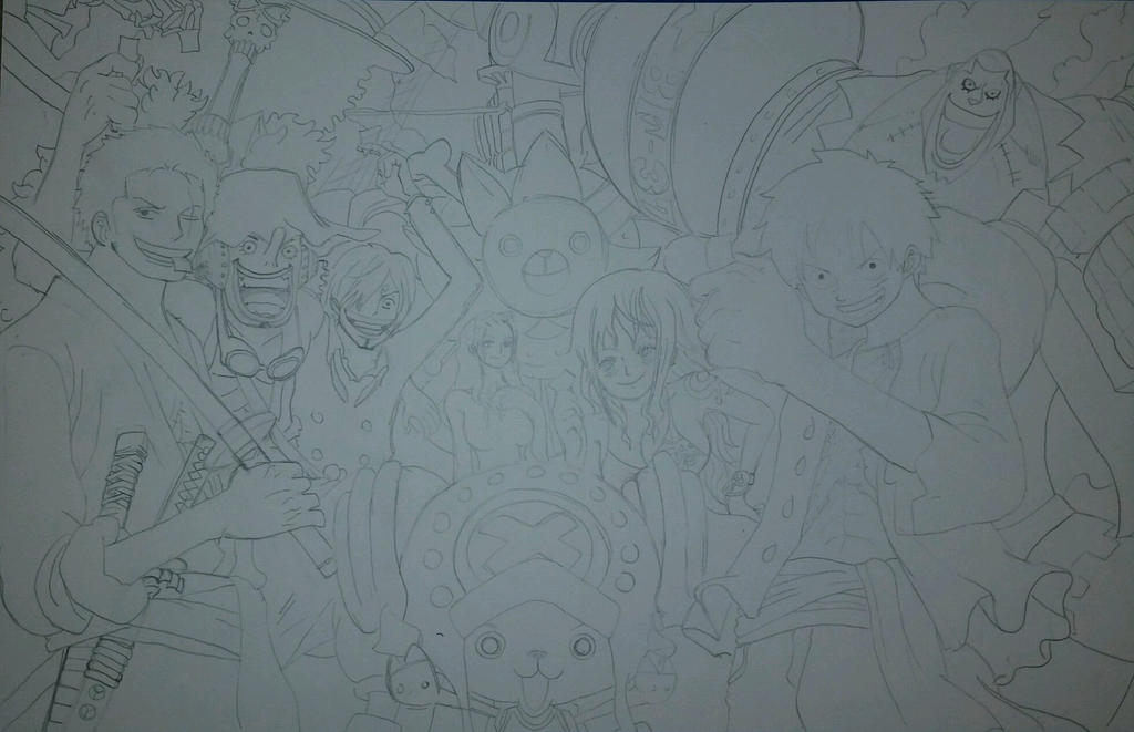One Piece Crew - Pencils by crowshot27