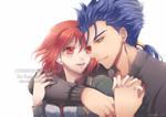 [Commission] Misaki and Cu Chulainn