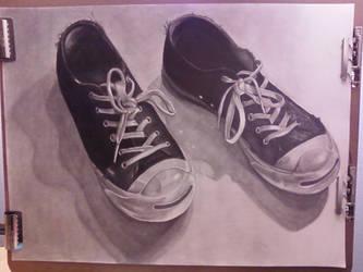 Worn Shoes by breakdancingcat