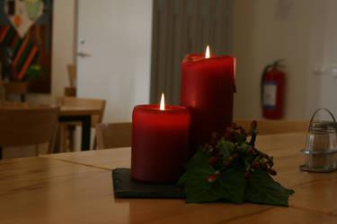 Christmas candle by achatinastock