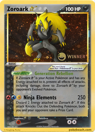 Shining Zoroark by FlamingClaw on DeviantArt  Shiny Zoroark Card