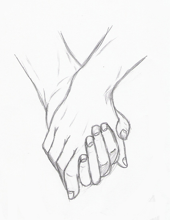 Holding Hands by Silouxa on DeviantArtGrabbing Hand Drawing