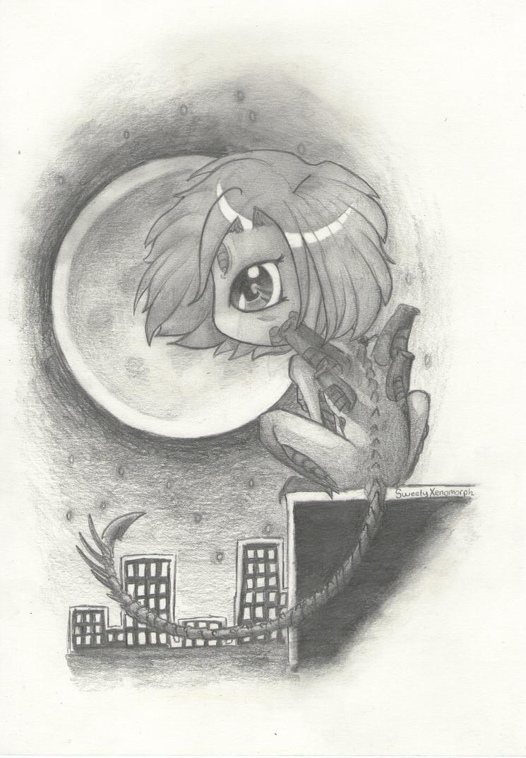 Mis dibujos, espero que os gusten - Página 2 A_dark_night__even_for_a_xenomorph____by_sweetyxenomorph-d4ouibh