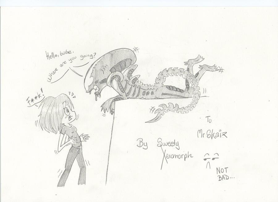Mis dibujos, espero que os gusten - Página 2 To_mrskaiz__my_crazy_friend_xd_by_sweetyxenomorph-d4pc37m