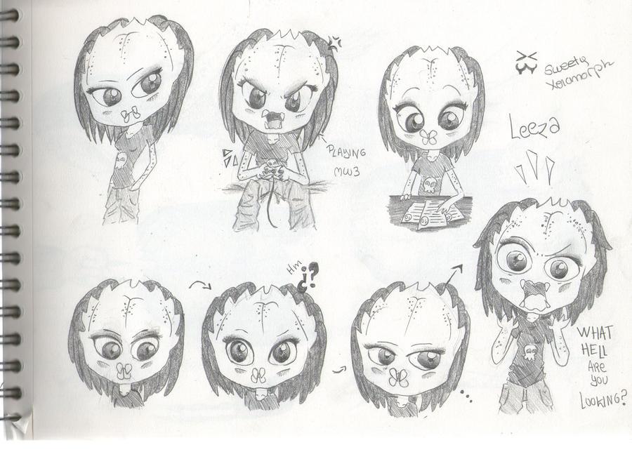 Mis dibujos, espero que os gusten - Página 2 Leeza_by_sweetyxenomorph-d4rl9lz