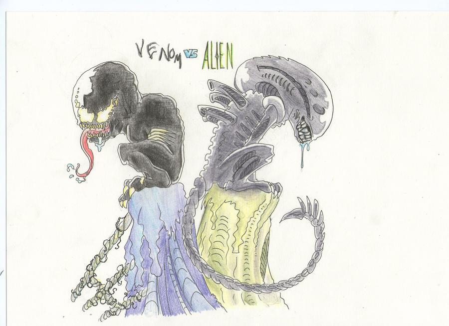 Mis dibujos, espero que os gusten - Página 2 Venom_vs_alien_by_sweetyxenomorph-d4seoyk