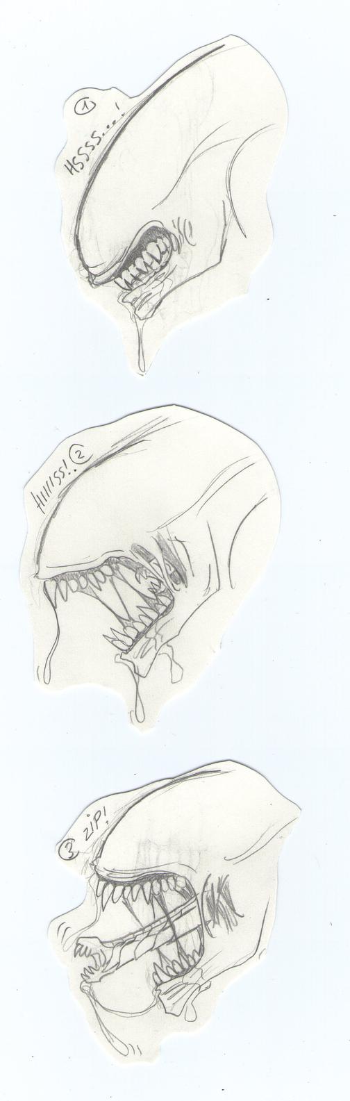 Mis dibujos, espero que os gusten - Página 3 Three_steps_to_death____by_sweetyxenomorph-d4sjs8a