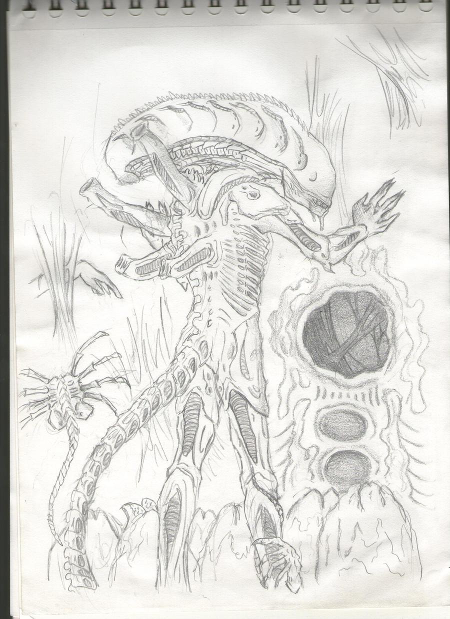 Mis dibujos, espero que os gusten - Página 3 Sad_drone_by_sweetyxenomorph-d4tdu70