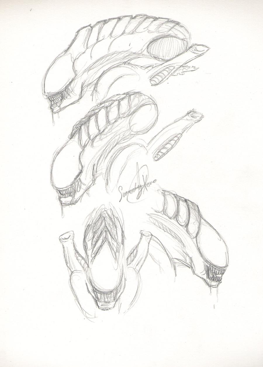 Alien Head Drawing Alien Heads 3 by
