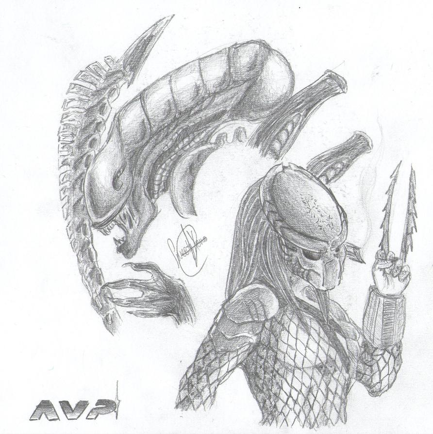 Mis dibujos, espero que os gusten - Página 4 Some__avp_drafts__3_by_sweetyxenomorph-d56t9t4