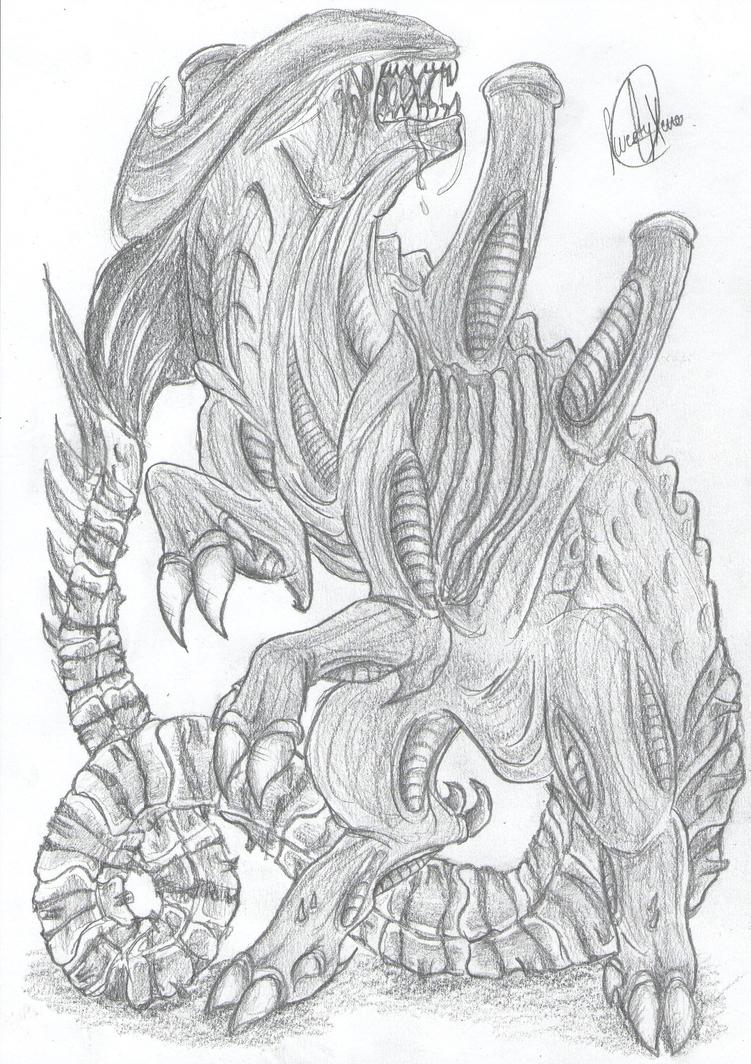 Mis dibujos, espero que os gusten - Página 4 Ungulate_xeno_____by_sweetyxenomorph-d58a5up