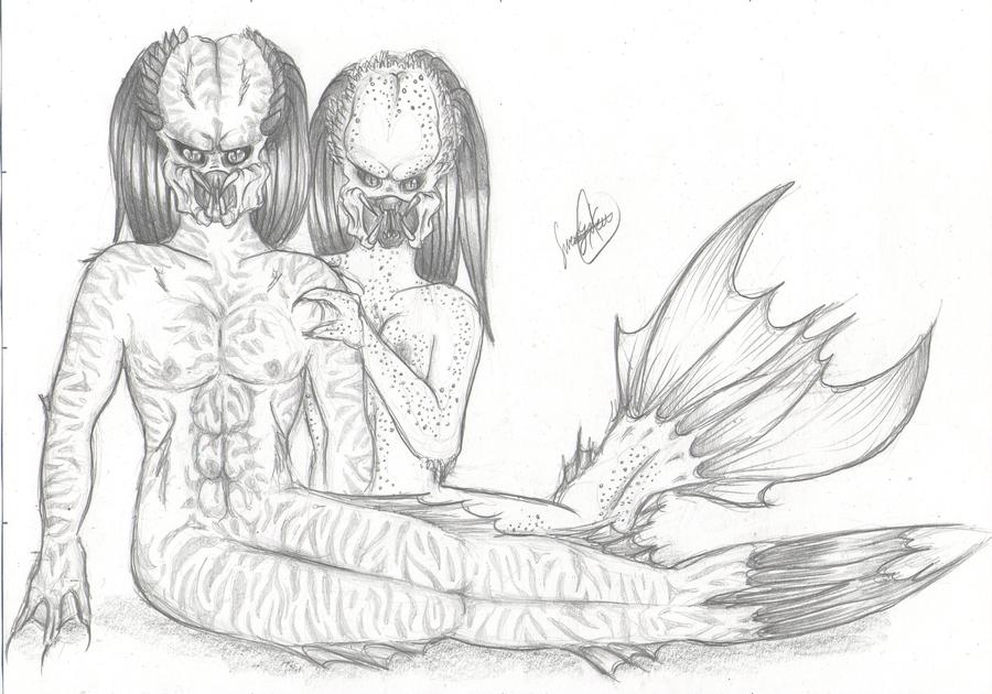 Mis dibujos, espero que os gusten - Página 4 Sweet_couple_by_sweetyxenomorph-d5cgwmz