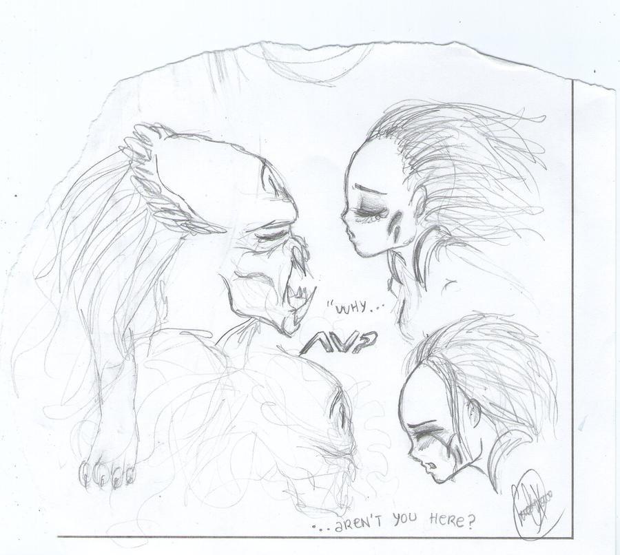 Mis dibujos, espero que os gusten - Página 4 Lex_and_scar__3_by_sweetyxenomorph-d5cuo0x