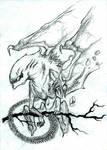 Xenomorph gargoyle