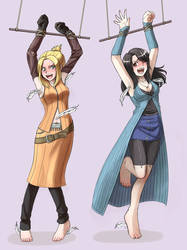 Quistis and Rinoa Tickled