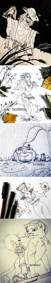 Inktober Day 01 to 05