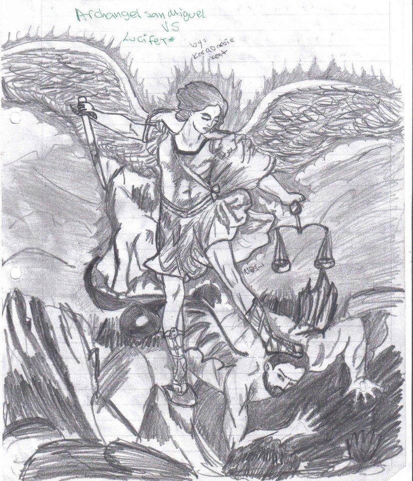 San Michael Archangel Vs Lucifer By Adadelinfierno On