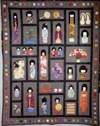 Kokeshi Dolls by unicornslave