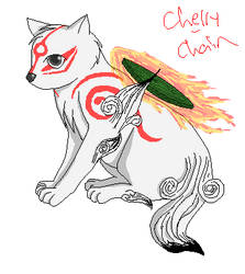 MS paint Amaterasu by Cherry-Chain
