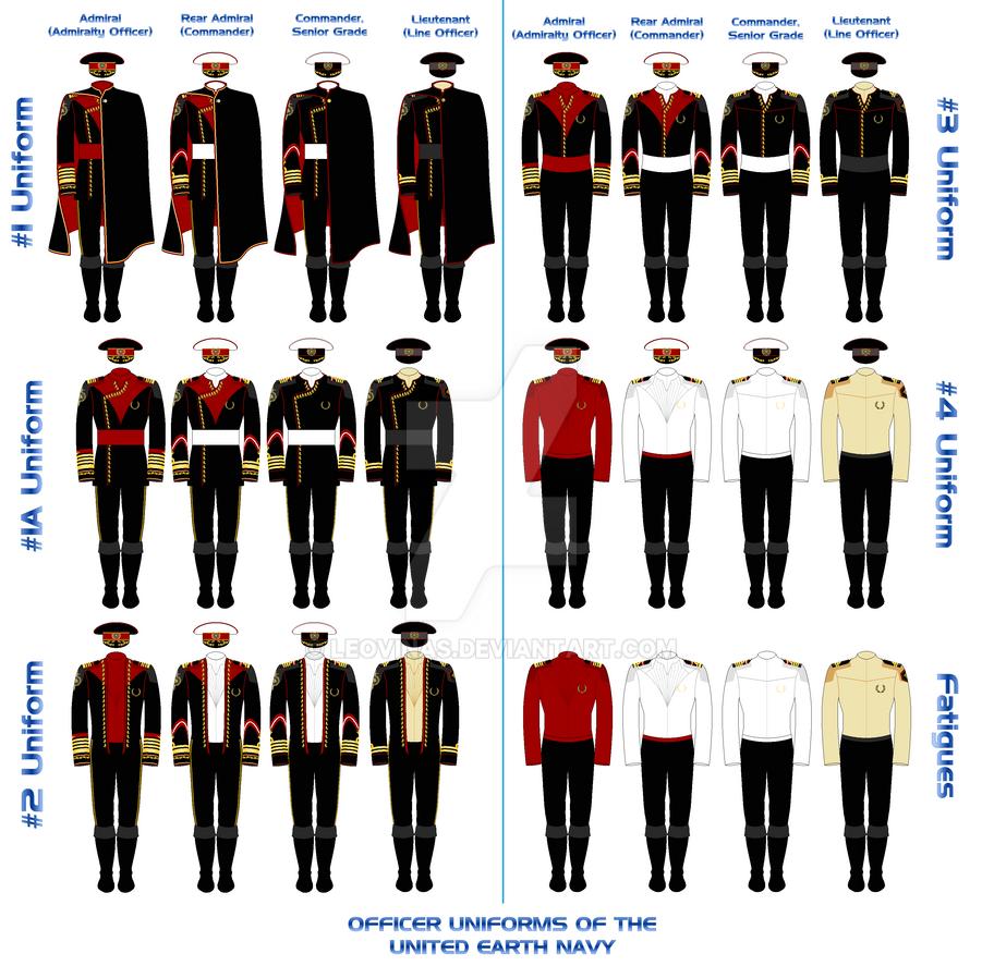 UEN Officers' Uniforms...