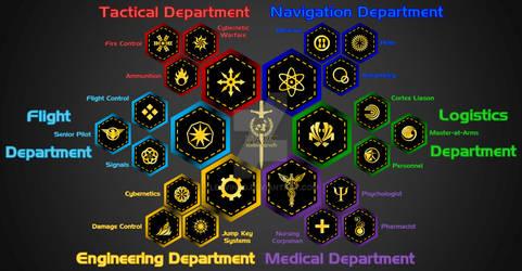 UEN Crew Department Patches