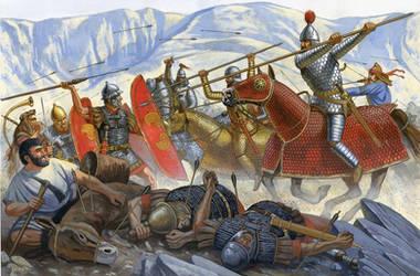 Romans vs Parthians by JohnnyShumate