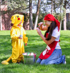 Pokemon Breeder and Pikachu