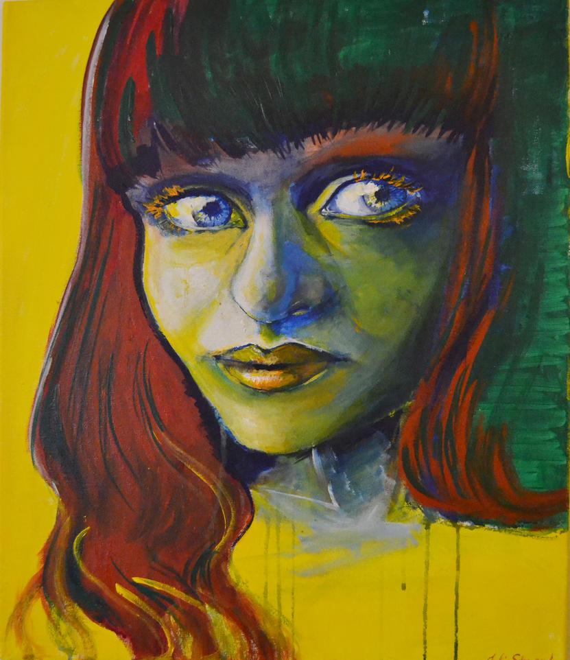 Acrylic portrait by JuliaStrand