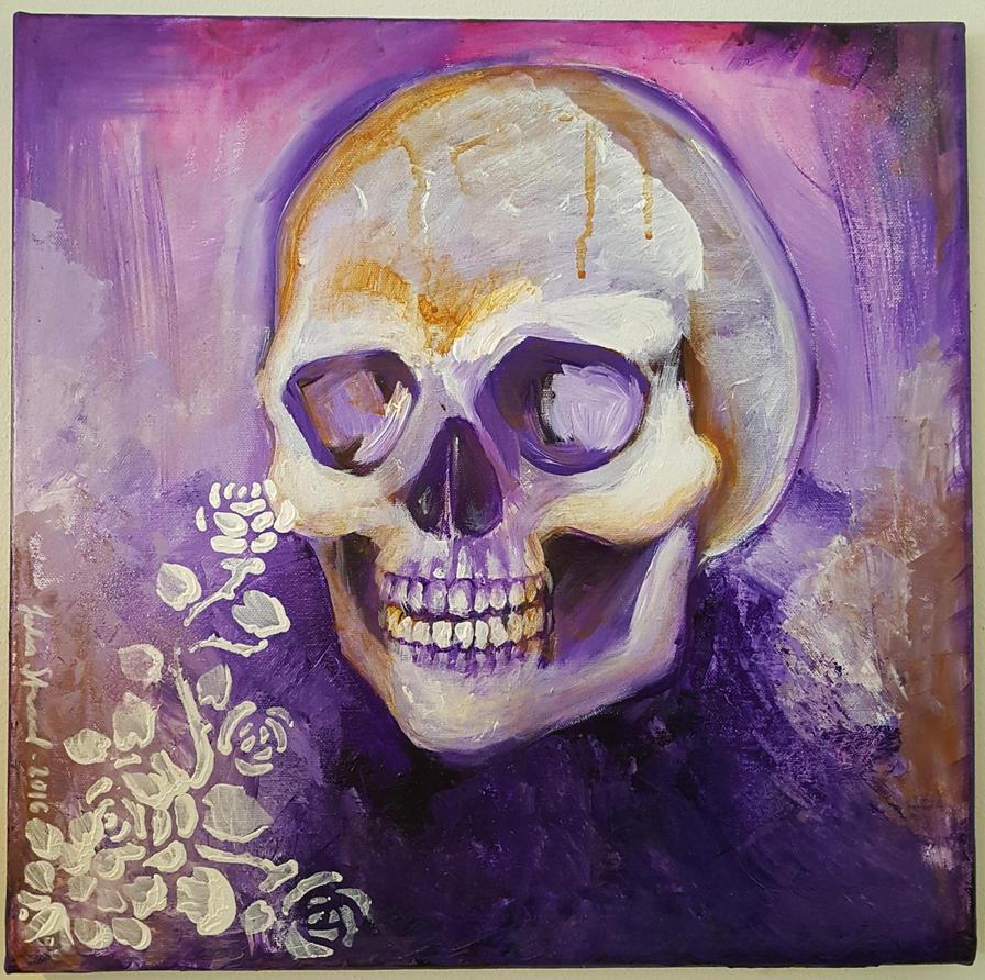Purple Skull by JuliaStrand
