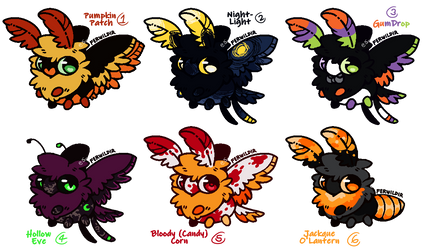 [OPEN] Halloween Themed Adopts 5/6