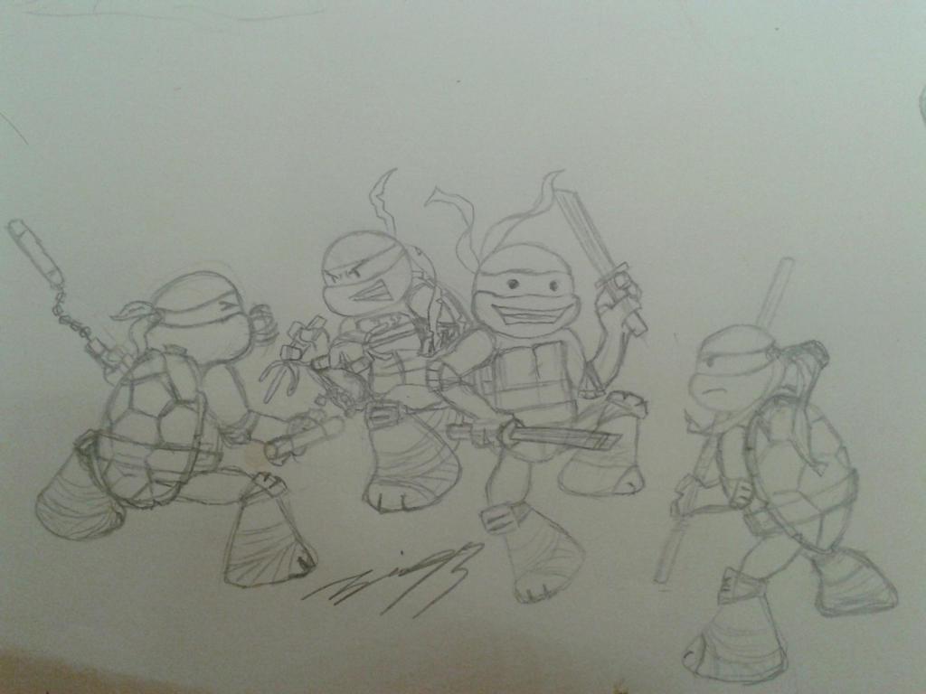 TMNT - Ninjas in training by sedra60
