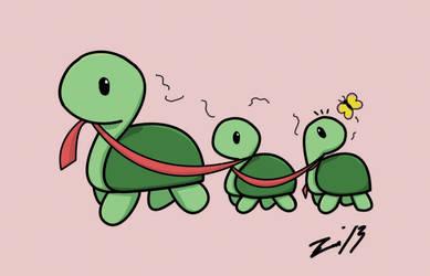 Mini turts family