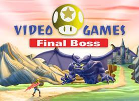 Boss Monster Video Games Billboard Art
