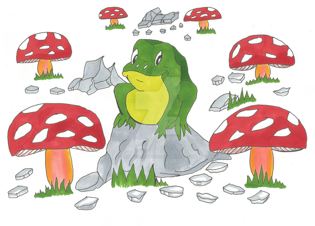 Finished happy frog picture