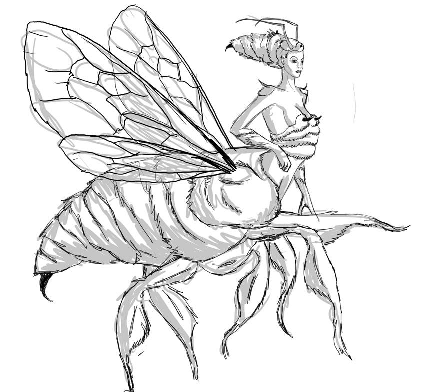 queen bee drawing - photo #14