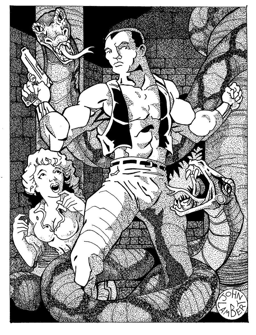 Doc Savage, The Temple of doom by Batman4art