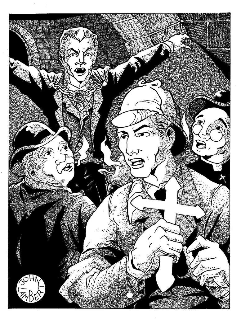 Holmes meets Dracula by Batman4art