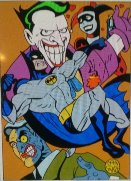 Batman colored by Batman4art